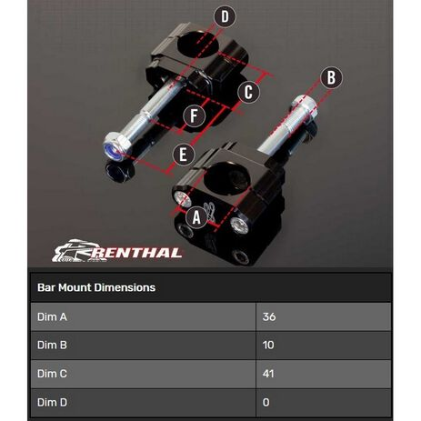 _Supporto Manubrio Renthal 36 mm KTM SX-F 12-15 EXC/XC 12-20 Husqvarna FE 2020 TE 18-20 | CL061 | Greenland MX_