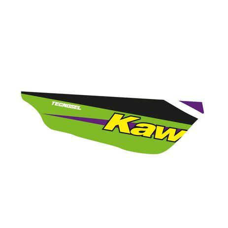 _Kit Adesivi + Copertina Sella Tecnosel Replica Team Kawasaki 1998 KX 125/250 94-98   84V02   Greenland MX_
