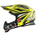 _Casco KYT Strike Eagle Stripe Giallo Fluor | KYT-YSEA0002 | Greenland MX_