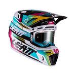 _Casco con Maschera Leatt Moto 8.5 V22 Turchese | LB1022010110-P | Greenland MX_