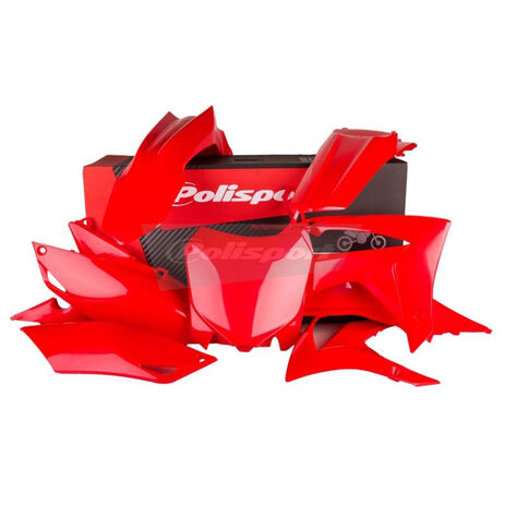_Kit Plastiche Polisport Honda CRF 250 R 14-17 CRF 450 R 13-16 Rouge   90628   Greenland MX_