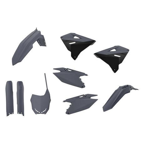 _Kit Plastiche Polisport Restyling Suzuki RM 125/250 01-08 Grigio | 90866-P | Greenland MX_