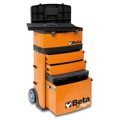 _Trolley Portautensili a 2 Moduli Sovrapponibili Beta Tools | C41H-W-P | Greenland MX_