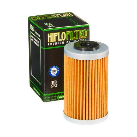_Filtro Olio Hiflofiltro KTM EXC-F 250 07-13 SX-F 250 06-12 Husaberg FE 390 10-12 FE 450 09-14   HF655   Greenland MX_