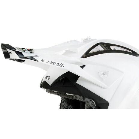 _Frontino Airoh Terminator Bianco Perlato   TC14F   Greenland MX_