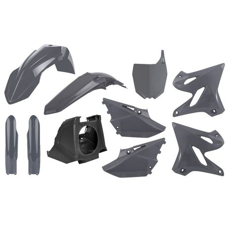 _Kit Plastiche Polisport MX Restyling Yamaha YZ 125/250 02-20 Grigio   90908-P   Greenland MX_