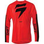 _Maglia Shift 3Lack Label Race Rosso/Nero | 24119-055 | Greenland MX_