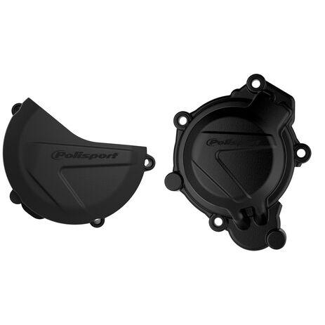 _Protezione Copercchio Frizione e Accensione Kit Polisport Husqvarna TC 125 16-18 KTM SX 125/150 16-18 | 90963-P | Greenland MX_