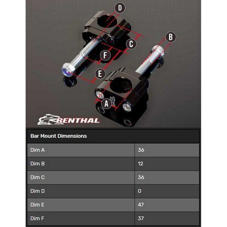 _Supporto Manubrio Renthal 36 mm Zero Off Set 5 mm Hon. CR/CRF 00-20 Yam. YZ 14-20 F Kaw. KX 17-20 F | CL052 | Greenland MX_