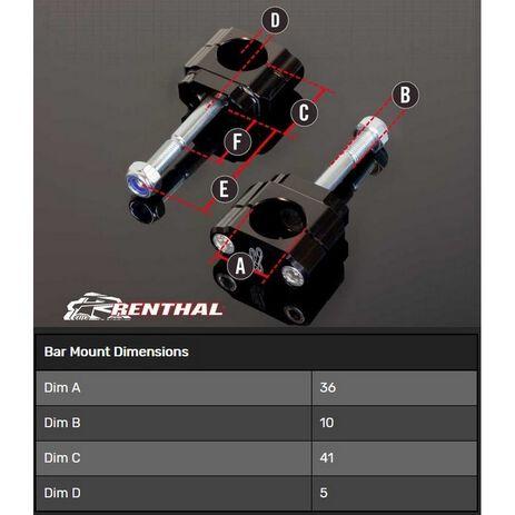 _Supporto Manubrio Renthal 36 mm KTM SX/SX-F 16-20 Husqvarna FC/TC 18-20 | CL060 | Greenland MX_