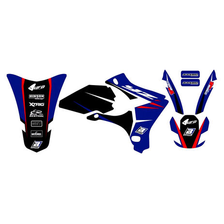 _Kit Adesivi Blackbird Dream 4 Yamaha YZ 250/450 F 03-05 | 2230N | Greenland MX_