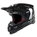 _Casco Alpinestars Supertech M8 Solid Nero Lucido | 8300519-1180 | Greenland MX_