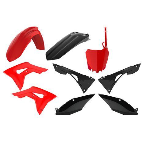 _Kit Plastiche Polisport Honda CRF 250 R 18-20 CRF 450 R 17-20 Rosso/Nero | 90833-P | Greenland MX_