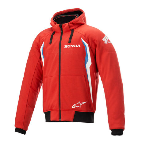 _Felpa con Cappuccio Alpinestars Honda Chrome V2 Sport Rosso/Blu   4200821-3017   Greenland MX_