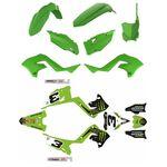 _Kit Plastiche Restyling Polisport + Kit Completo Adesivi Kawasaki KX 125/250 03-08 | KIT-PAPR-3 | Greenland MX_