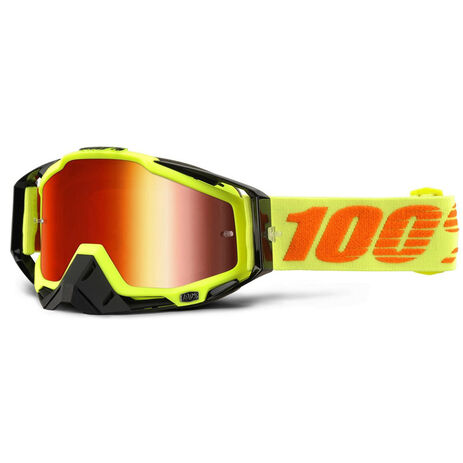 _Occhiali 100% Racecraft Attack Giallo Fluor Mirror | 50110-026-02 | Greenland MX_