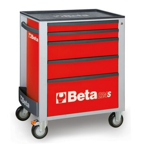 _Cassettiera Mobile con 5 Cassetti Beta Tools   C24S-5-R-P   Greenland MX_