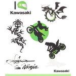 _Kit Tatuaggio Bambini Kawasaki | 226SPM0017 | Greenland MX_