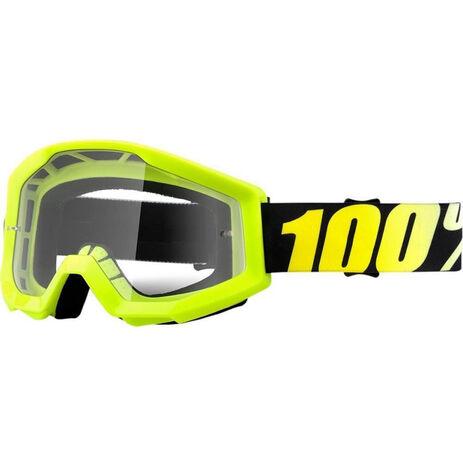 _Occhiali 100% Strata Neon Giallo Fluor | 50400-004-02 | Greenland MX_