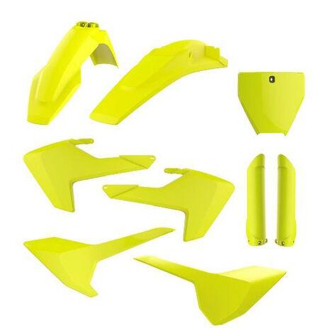 _Full Kit Plastiche Polisport Husqvarna TC/FC 16-18 Fluor Giallo | 90741 | Greenland MX_