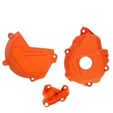 _Protezione Copercchio Frizione e Accensione Kit Polisport KTM EXC-F 250/350 17-.. Husqvarna FE 250/350 19-.. | 90983-P | Greenland MX_