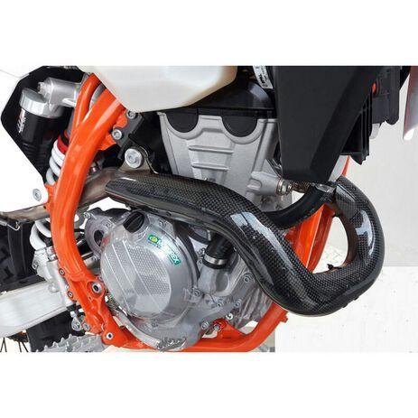 _Protezione Scarico Carbonio KTM EXC-F 450/500 20-.. Husqvarna FE 450/501 20-..   CRPE-525   Greenland MX_