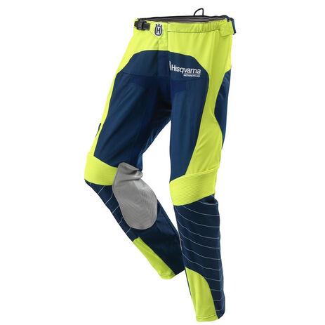 _Pantalone MX Husqvarna Railed Blu/Giallo | 3HS162250P | Greenland MX_