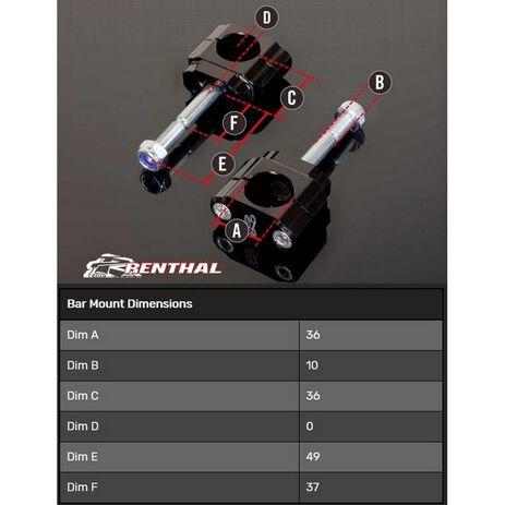 _Supporto Manubrio Renthal 36 mm Suzuki RMZ 08-19 | CL053 | Greenland MX_