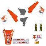 _Kit Adesivi + Copertina Sella Tecnosel Replica Team Honda 1991 USA CR 125 91-92 250 90-91   81V01   Greenland MX_