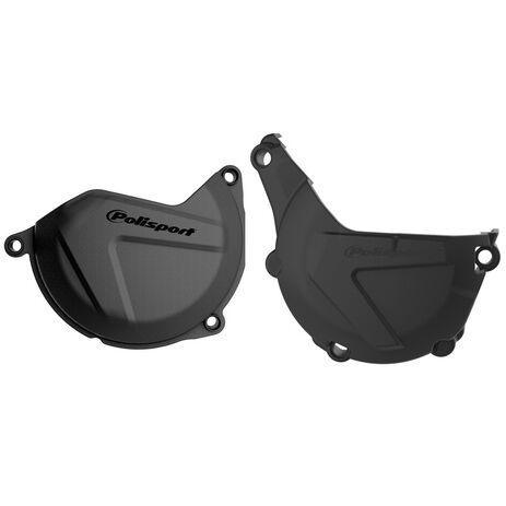 _Protezione Copercchio Frizione e Accensione Kit Polisport Husqvarna FE 450/501 14-16 KTM EXC-F 450/500 13-16 | 90988-P | Greenland MX_