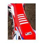 _Coppertina Sella TJ Honda CRF 250 R 18-19 CRF 450 R/X 17-19 USA Rosso-Bianco | ST17CRFBTSR | Greenland MX_