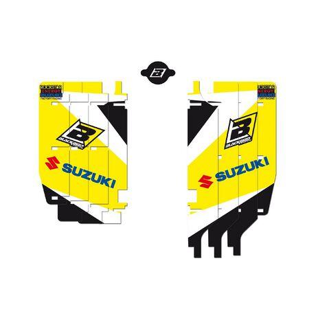_Kit Adesivi Feritoie Radiatore Blackbird Suzuki RMZ 250 10-18 | A302E | Greenland MX_