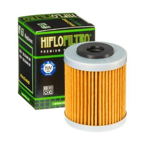 _Filtro Olio Hiflofiltro Husqvarna 701 EN/SM 16-19 1º KTM 690 Enduro R 12-19 1º | HF651 | Greenland MX_