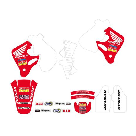 _Kit Adesivi Tecnosel Replica Team Honda 1992 CR 125 93-94 CR 250 92-94   21V02   Greenland MX_