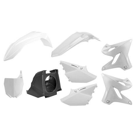 _Kit Plastiche Polisport MX Restyling Yamaha YZ 125/250 02-14 a 15-18 Bianco | 90717 | Greenland MX_