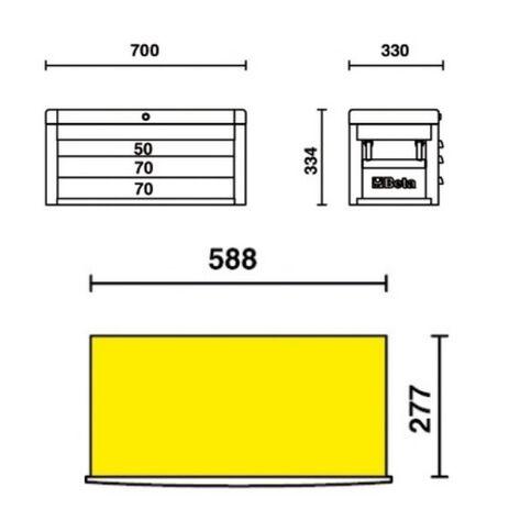 _Cassettiera Portatile con 3 Cassetti Beta Tools   C22S-R-P   Greenland MX_