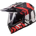 _Casco LS2 Pioneer MX436 Xtreme Nero Opaco/Rosso | 404362532 | Greenland MX_