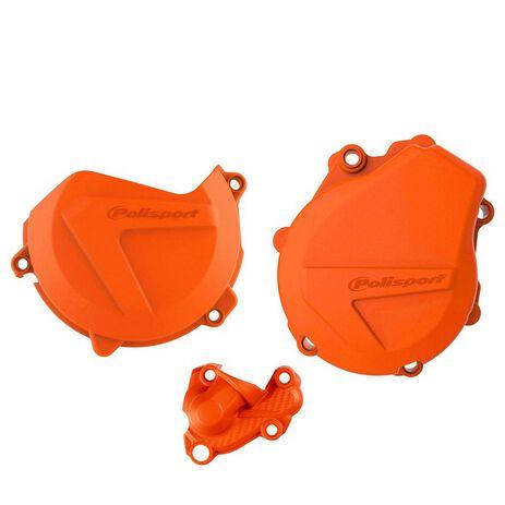 _Protezione Copercchio Frizione e Accensione Kit Polisport KTM EXC-F 450/500 17-.. Husqvarna FE 450/501 17-.. | 90992-P | Greenland MX_