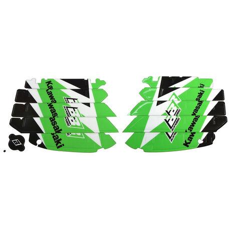 _Kit Adesivi Feritoie Radiatore Blackbird Kawasaki KX 250 F 09-16 | A402E | Greenland MX_