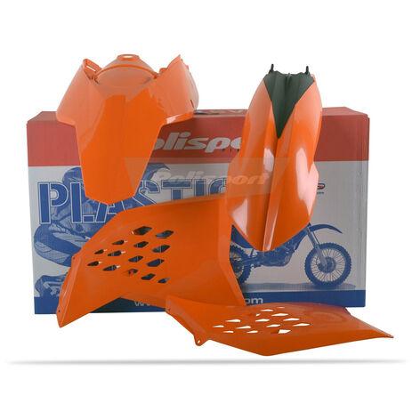 _Kit Plastiche Polisport KTM SX 07-10 EXC/EXCF 08-11 Arancione | 90182 | Greenland MX_