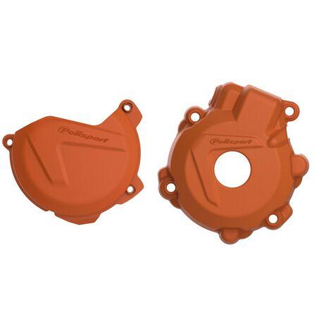 _Protezione Copercchio Frizione e Accensione Kit Polisport Husqvarna FE 250/350 14-16 KTM EXC-F 250/350 14-16 | 90979-P | Greenland MX_