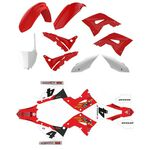 _Kit Plastiche Restyling Polisport + Kit Completo Adesivi Honda CR 125/250 02-07 | KIT-PAPR-1 | Greenland MX_