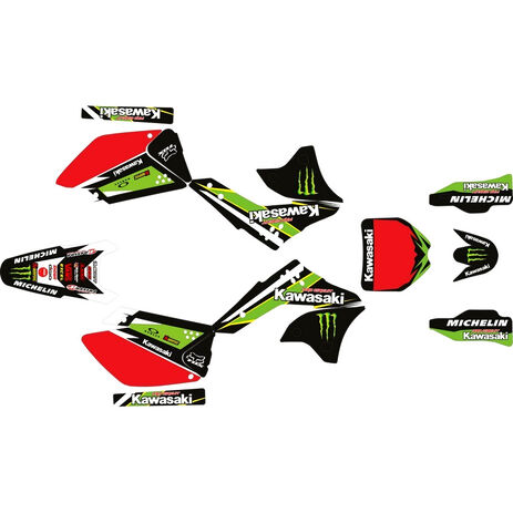 _Kit Completo Adesivi Kawasaki KX 250 F 06-08 Pro Circuit | SK-KX250F0608POPC-P | Greenland MX_