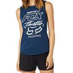 _Canotta Donna Fox Throttle Maniac Muscle Blu | 21052-202-P | Greenland MX_