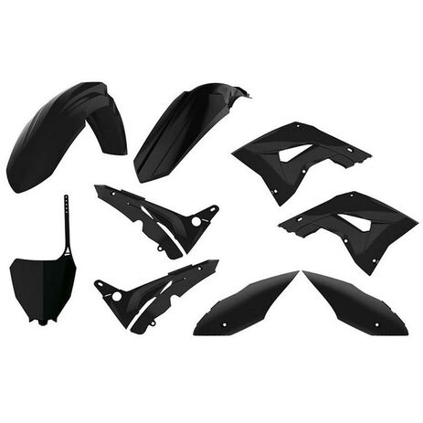 _Kit Plastiche Polisport MX Restyling Honda CR 125/250 02-07 Nero | 90821-P | Greenland MX_
